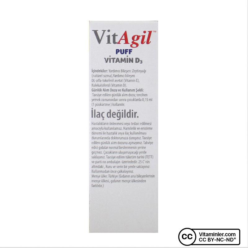 Allergo VitAgil D3 Vitamini 400 IU 20 mL Sprey