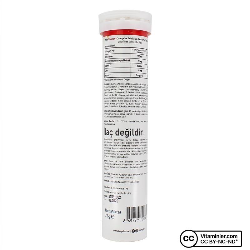 Allergo VitaGlucan C-omplex 20 Efervesan Tablet
