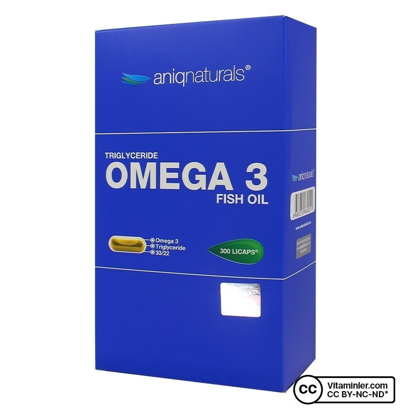 Aniqnaturals Omega 3 Balık Yağı 300 Kapsül