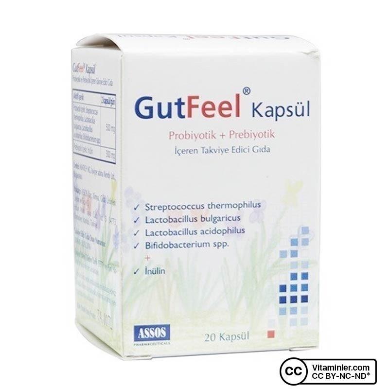 Assos Gut Feel Probiyotik Prebiyotik 20 Kapsül