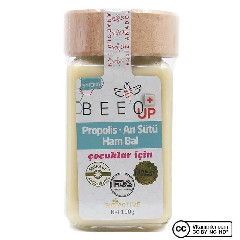 Bee'o UP Propolis Arı Sütü Ham Bal (Çocuk) 190 Gr