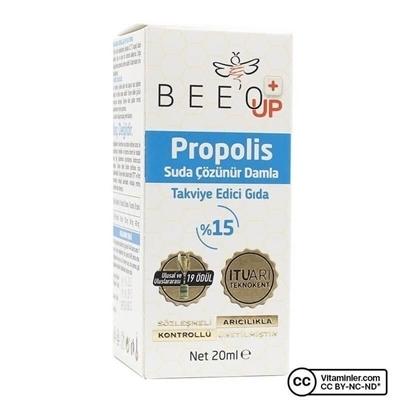Bee\'o UP Suda Çözünür Propolis Damla 20 mL