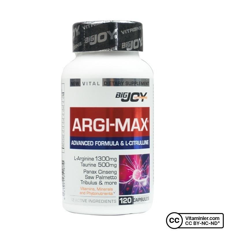 Bigjoy Vitamins Argi-Max 120 Kapsül