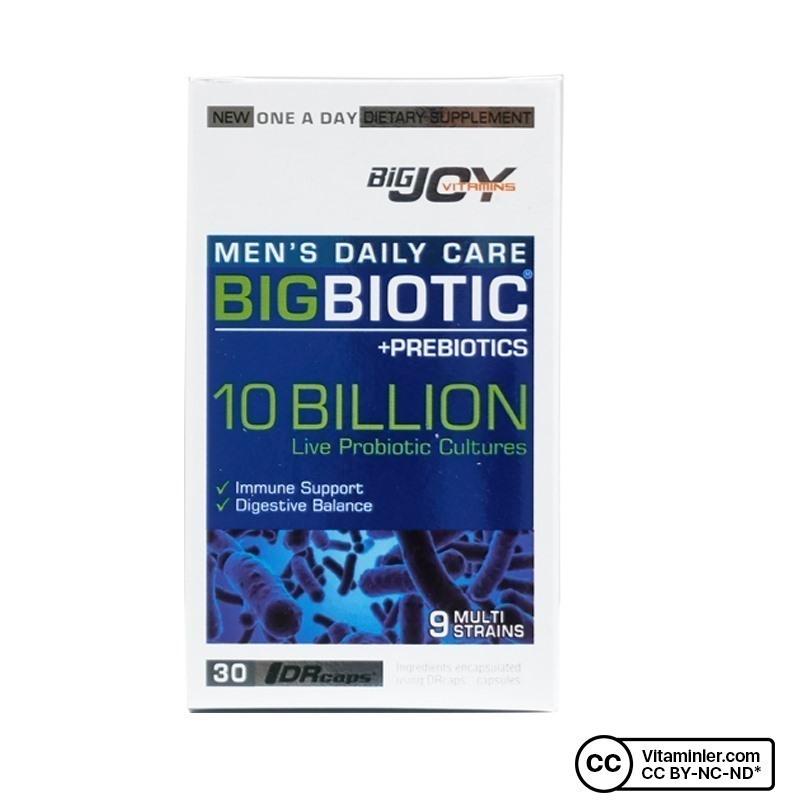 Bigjoy Vitamins Bigbiotic Probiotics For Men 30 Kapsül