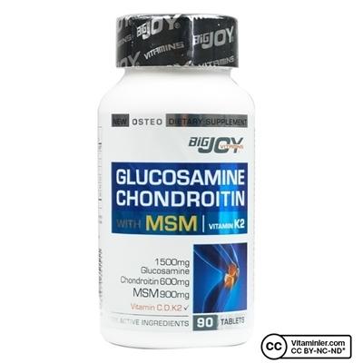 Big Joy Bigjoy Vitamins Glucosamine Chondroitin MSM 90 Tablet