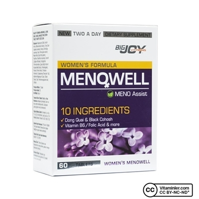 Big Joy Bigjoy Vitamins Menowell 60 Tablet