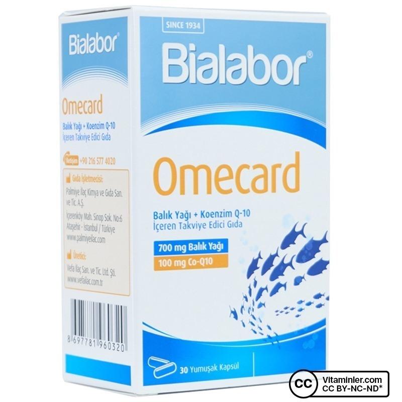 Biolabor Omecard Balık Yağı + Koenzim Q10 30 Kapsül
