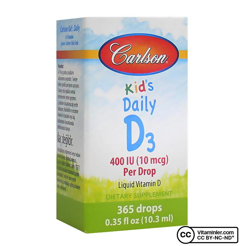 Carlson Kid's Daily D3 400 IU Drop D3 Vitamini Damlası 10.3 mL
