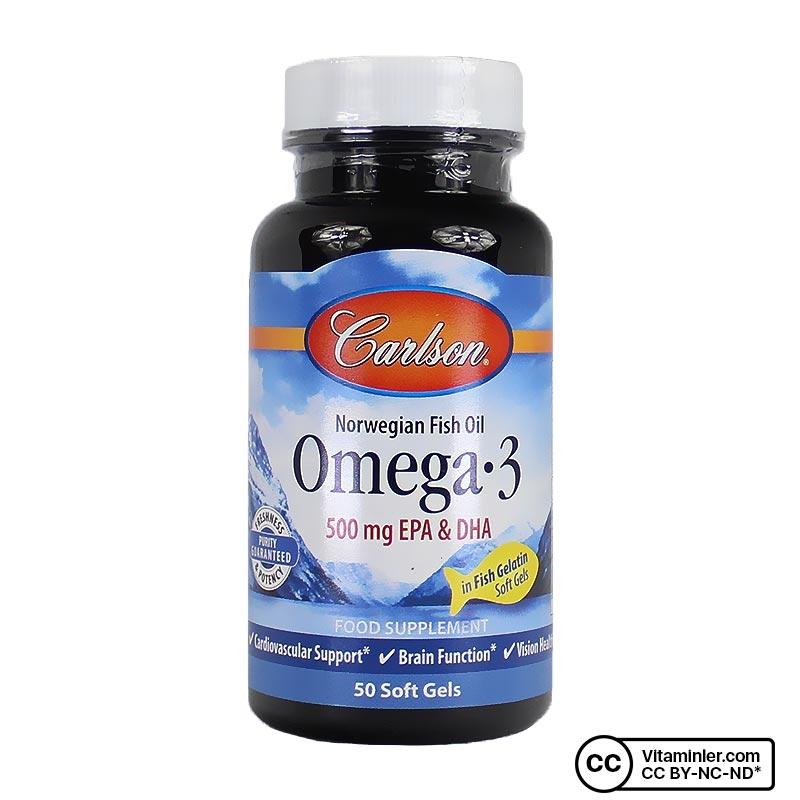 Carlson Omega 3 Balık Yağı 50 Kapsül