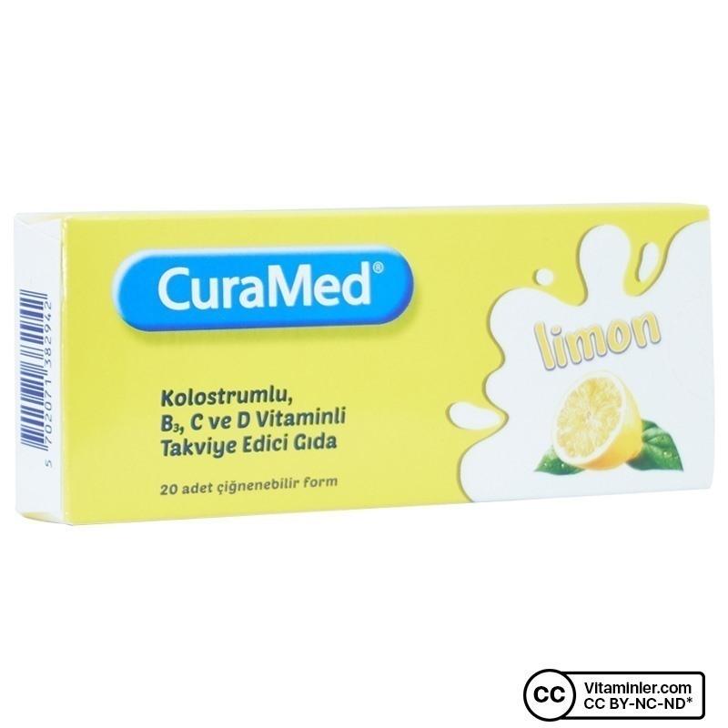 Curamed Limon 20 Çiğnenebilir Tablet