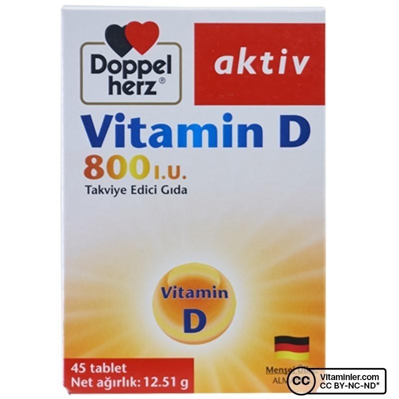 Doppelherz Aktiv Vitamin D 800 IU 45 Tablet