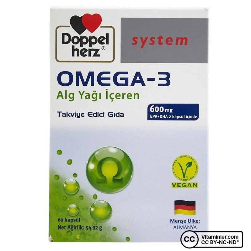 Doppelherz Omega-3 Alg Yağı 60 Kapsül