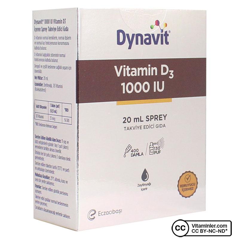 Dynavit Vitamin D3 1000 IU 20 mL Sprey