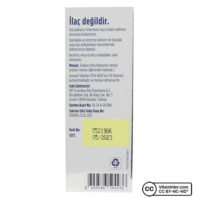 Dynavit Vitamin D3 400 IU 20 mL Sprey