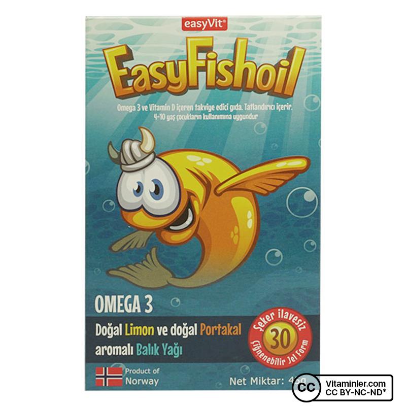 EasyVit EasyFishoil Omega 3 30 Çiğnenebilir Form
