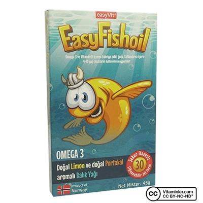 Easyvit EasyVit EasyFishoil Omega 3 30 Çiğnenebilir Form