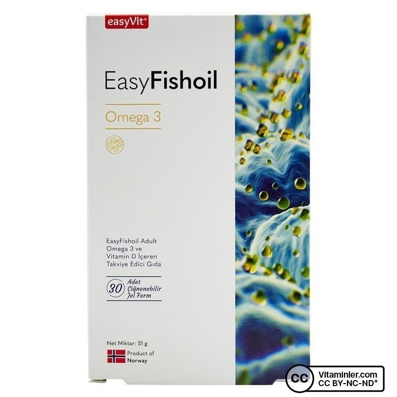 EasyVit EasyFishoil Yetişkin Omega 3 30 Çiğnenebilir Form