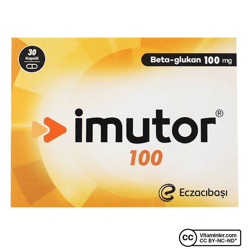 Eczacıbaşı Imutor Beta Glukan 100 Mg 30 Kapsül