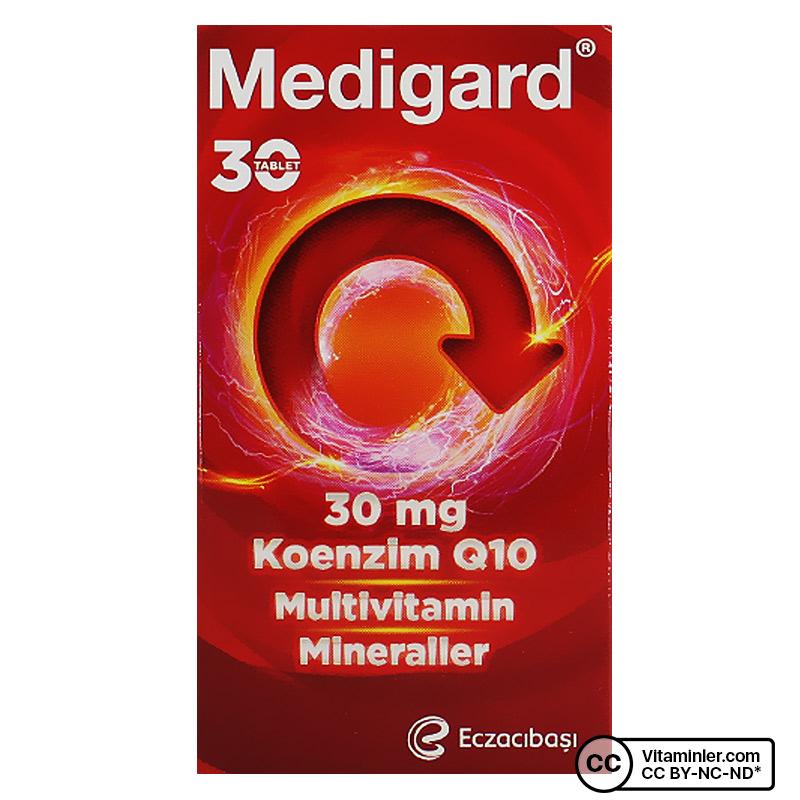 Eczacıbaşı Medigard Vitamin Mineral Kompleks CoQ10 30 Tablet