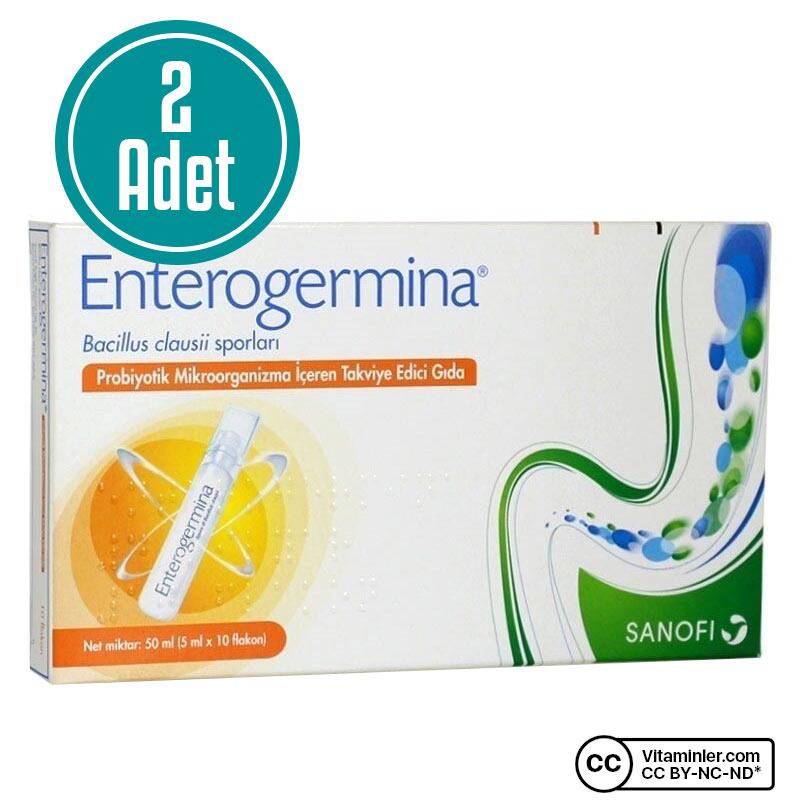 Enterogermina Yetişkinler İçin 5 mL x 10 Flakon 2'li Özel Paket