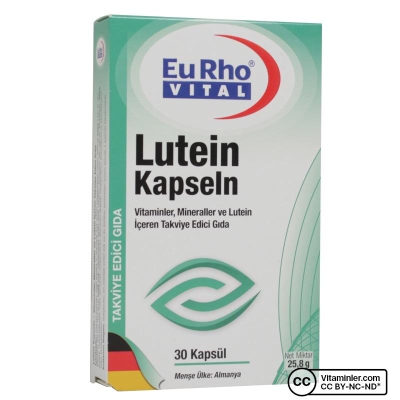 Eurho Vital Lutein Kapseln 30 Kapsül