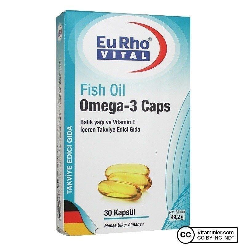 Eurho Vital Omega-3 Balık Yağı 30 Kapsül
