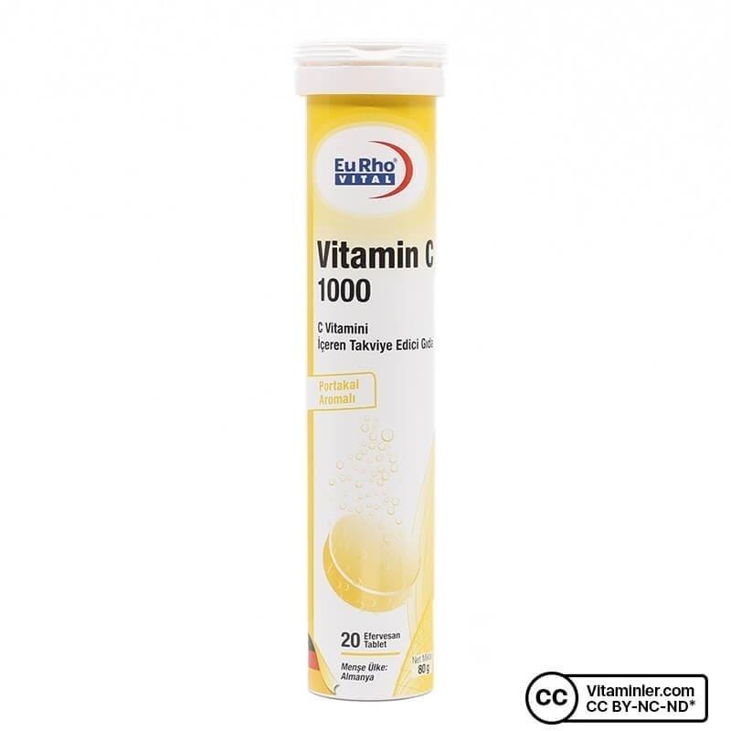 Eurho Vital Vitamin C 1000 20 Efervesan Tablet