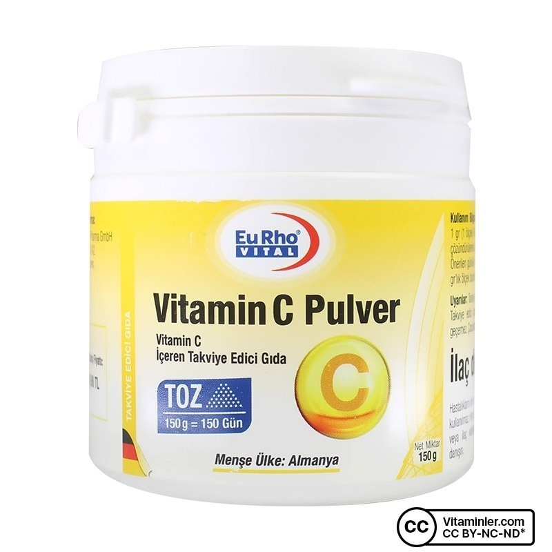 Eurho Vital Vitamin C Pulver 150 Gr