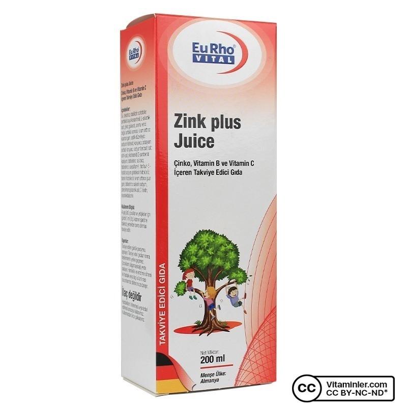 Eurho Vital Zink Plus Juice 200 mL