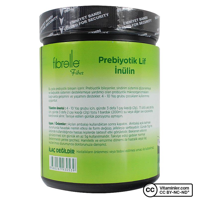 Fibrelle Prebiyotik Lif İnülin 500 Gr