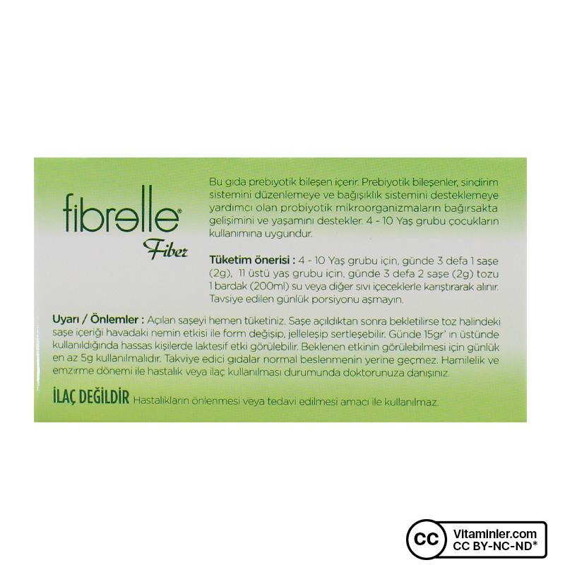 Fibrelle Prebiyotik Lif İnülin Hindibağ 30 Saşe x 2 Gr