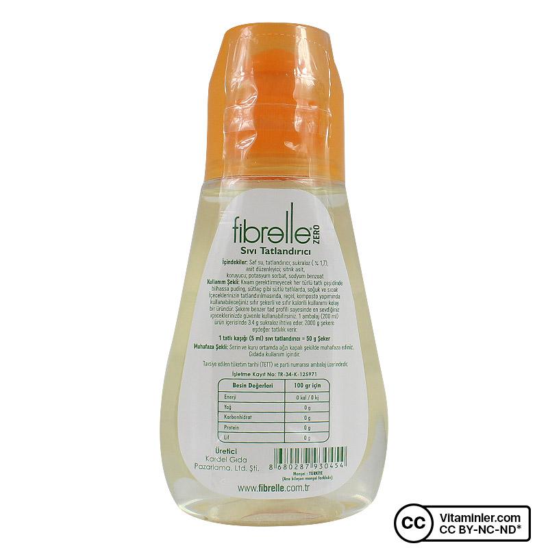 Fibrelle Sukralozlu Sıvı Tatlandırıcı 200 mL