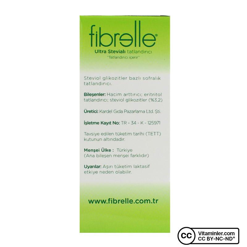 Fibrelle Ultra Stevialı Tatlandırıcı 80 Saşe x 0.5 Gr