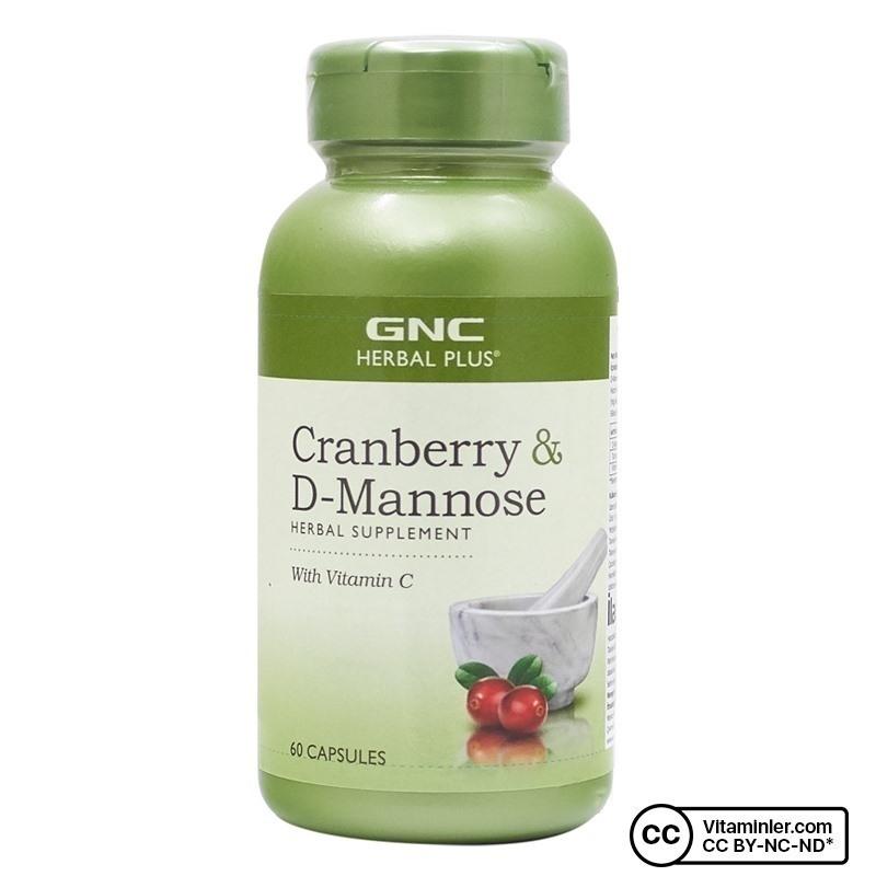 GNC Cranberry D-Mannose 60 Kapsül
