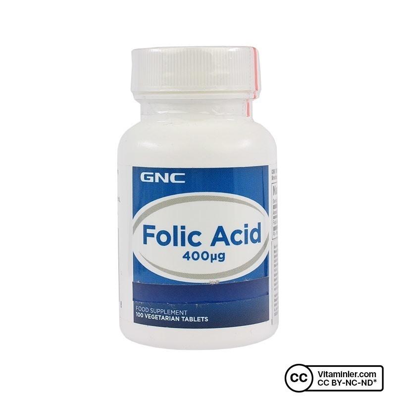 GNC Folic Acid 400 Mcg 100 Tablet