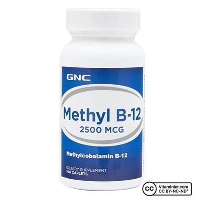 Gnc GNC Methylcobalamin B12 2500 Mcg 100 Tablet