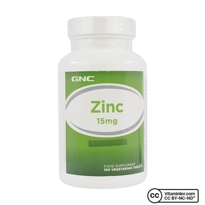 Gnc GNC Zinc 15 Mg 100 Tablet
