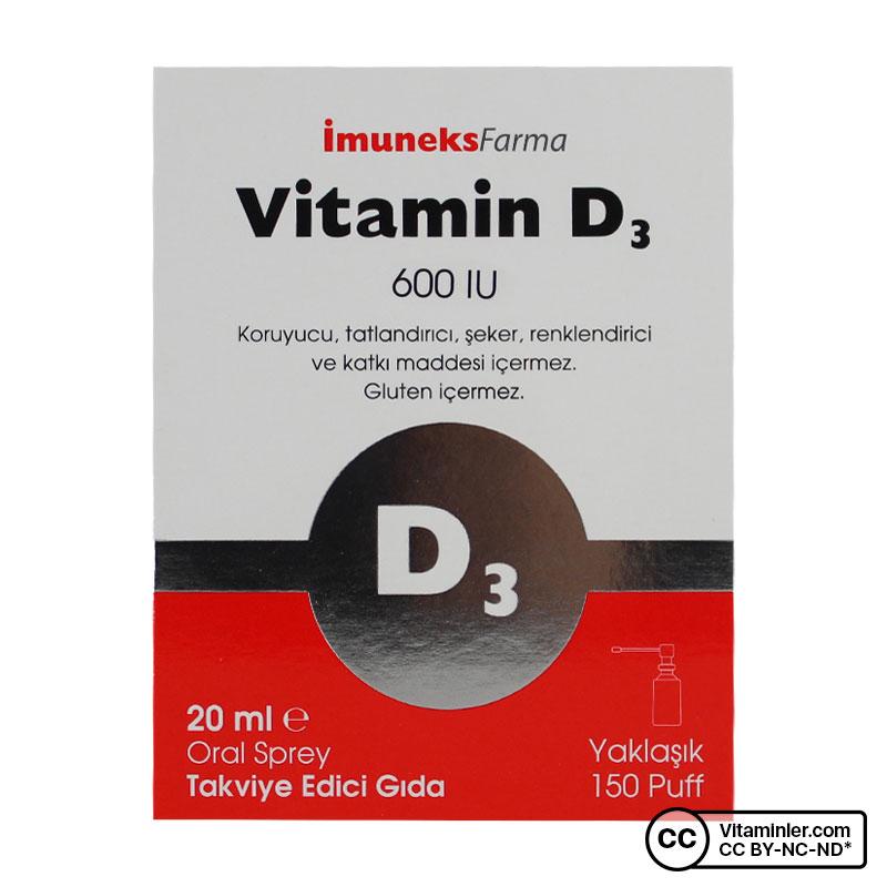 Imuneks Vitamin D3 600 IU 20 mL Sprey