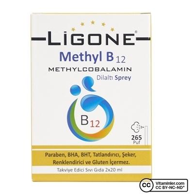 Ligone Methyl B12 Methylcobalamin Dilaltı Sprey x 20 mL