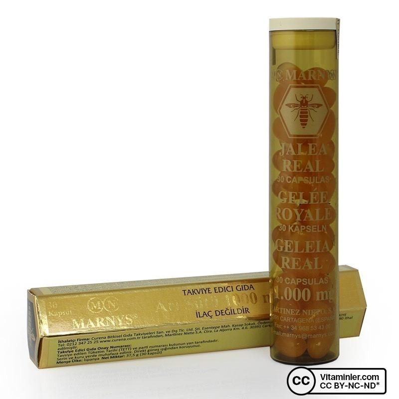 Marnys Royal Jelly 1000 Mg (Arı Sütü) 30 Kapsül