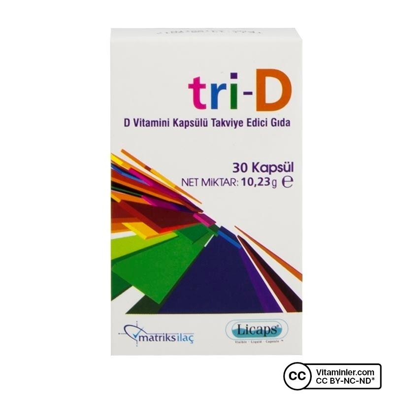 Matriks Tri-D D Vitamini 30 Kapsül