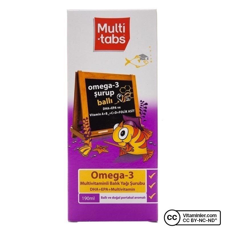 Multi-tabs Omega 3 Mutivitaminli Balık Yağı Şurubu 190 mL