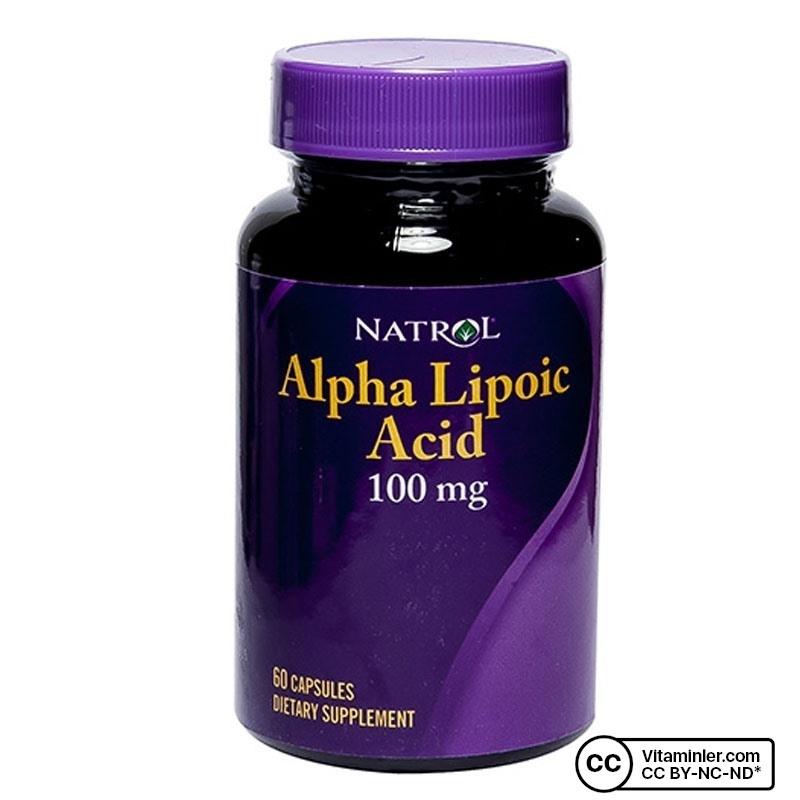Natrol Alpha Lipoic Acid 100 Mg 60 Kapsül
