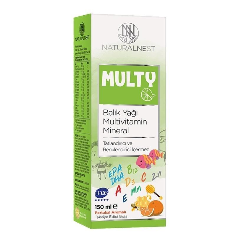 NaturalNest Multy Balık Yağı & Multivitamin 150 mL
