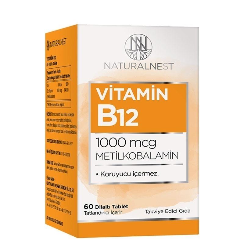 NaturalNest Vitamin B12 1000 Mcg 60 Dilaltı Tablet