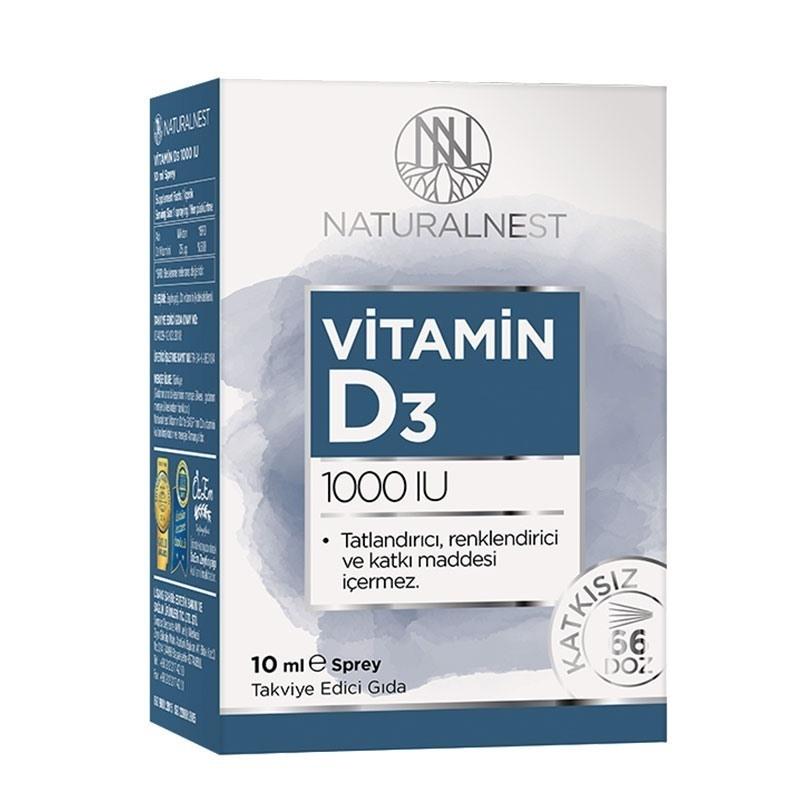 NaturalNest Vitamin D3 1000 IU 10 mL Sprey