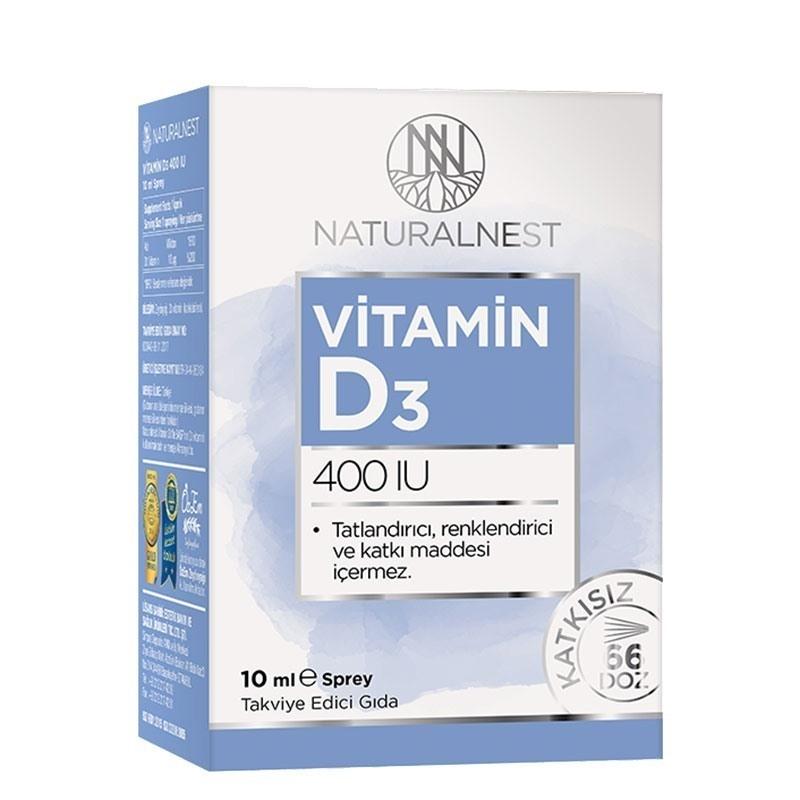 NaturalNest Vitamin D3 400 IU 10 mL Sprey
