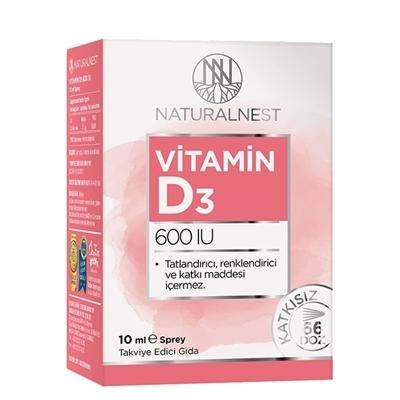 Natural Nest NaturalNest Vitamin D3 600 IU 10 mL Sprey