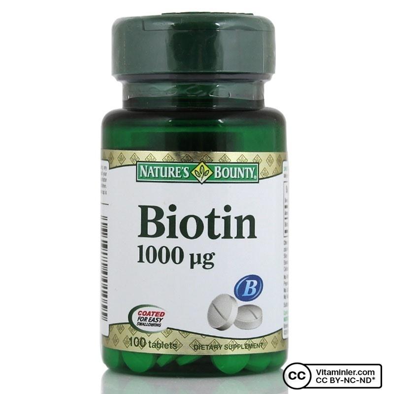 Nature's Bounty Biotin 1000 mcg 100 Tablet