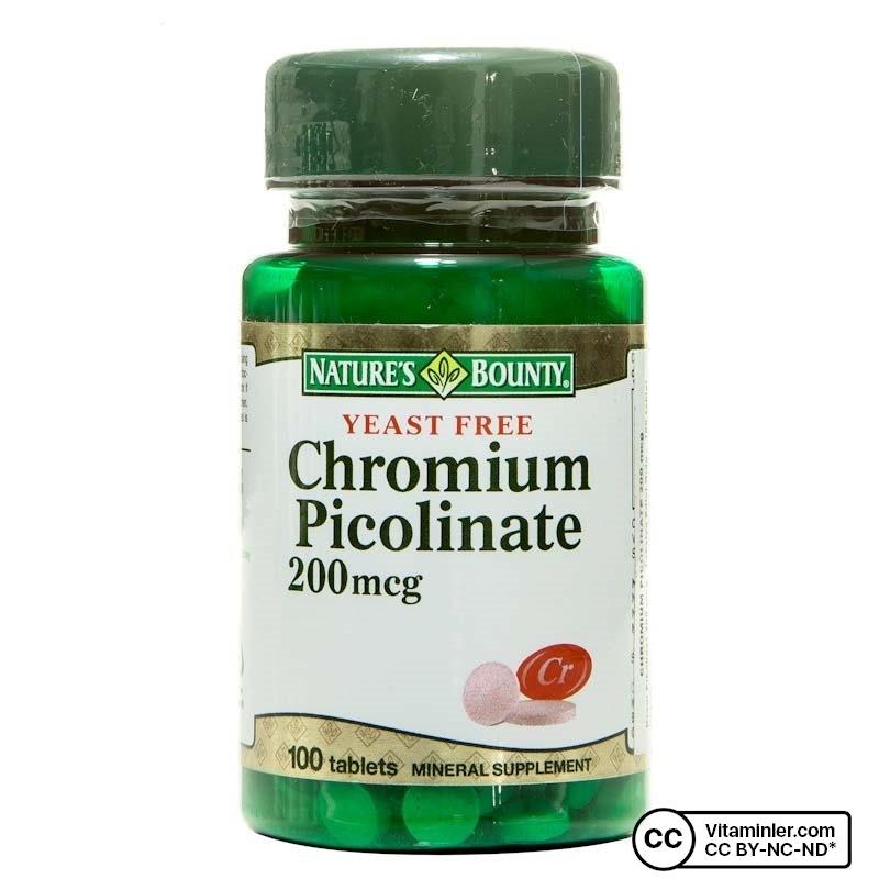 Nature's Bounty Chromium Picolinate 200 mcg 100 Tablet